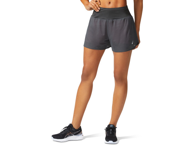 "asics Ventilate 2-N-1 3,5"" Shorts Women graphite grey/peach petal"